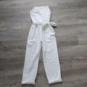 Zara | white jumpsuit